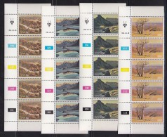 SOUTH WEST AFRICA, 1981, MNH Control Strips, Landscapes, M 500-503 - South West Africa (1923-1990)