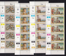 SOUTH WEST AFRICA, 1982, MNH Control Strips, Bartelomeus Diaz, M 520-523 - South West Africa (1923-1990)
