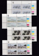 SOUTH WEST AFRICA, 1983, MNH Control Blocks, Paintings, M 541-544 - South West Africa (1923-1990)