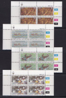 SOUTH WEST AFRICA, 1983, MNH Control Blocks, Lobsters, M 545-548 - South West Africa (1923-1990)