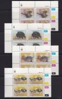 SOUTH WEST AFRICA, 1985, MNH Control Blocks, Birds (Ostrich), M 566-569 - South West Africa (1923-1990)