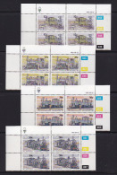 SOUTH WEST AFRICA, 1985, MNH Control Blocks, Locomotives, M 575-578 - South West Africa (1923-1990)