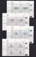 SOUTH WEST AFRICA, 1986, MNH Control Blocks, Diego Cao, M 583-586 - South West Africa (1923-1990)