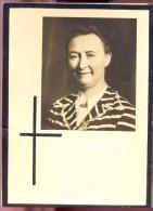 Devotie Doodsprentje Suzanne Vandommele - Wevelgem 1902 - Kortrijk 1961 - Décès