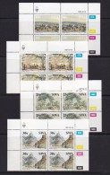 SOUTH WEST AFRICA, 1987, MNH Control Blocks, Thomas Bains, M 600-603 - South West Africa (1923-1990)