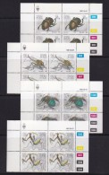 SOUTH WEST AFRICA, 1987, MNH Control Blocks, Insects, M 605-608 - South West Africa (1923-1990)