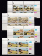 SOUTH WEST AFRICA, 1987, MNH Control Blocks, Tourism, M 609-612 - South West Africa (1923-1990)
