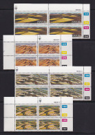 SOUTH WEST AFRICA, 1989, MNH Control Blocks, Sand Dunes, M 641-644 - South West Africa (1923-1990)
