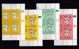 SOUTH WEST AFRICA, 1989, MNH Control Blocks, Elections, M 645-648 - South West Africa (1923-1990)