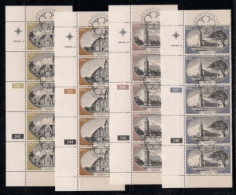 SOUTH WEST AFRICA, 1978, CTO Control Strips, Churches, M 448-451 - South West Africa (1923-1990)