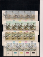SOUTH WEST AFRICA, 1979, CTO Control Strips, Waterbirds, M 458-461 - South West Africa (1923-1990)