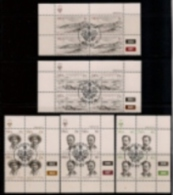 SOUTH WEST AFRICA, 1983, CTO Control Blocks, Luderitz, M 532-536 - South West Africa (1923-1990)