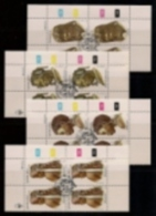 SOUTH WEST AFRICA, 1984, CTO Control Blocks, Hair Dressings, M 554-557 - South West Africa (1923-1990)