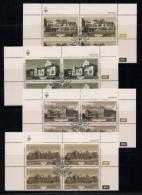 SOUTH WEST AFRICA, 1985, CTO Control Blocks, Buildings Windhoek, M 571-574 - South West Africa (1923-1990)
