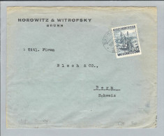 Böhmen+Mähren 1940-11-30 Zensurbrief> Bern CH EF - Bohême & Moravie