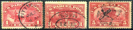 UNITED STATES 1913 - Parcel Post Stamps Scott #Q1, Q3, Q5 - Used - Parcel Post & Special Handling