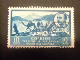 AFRIQUE OCCIDENTALE ESPAGNOLE 1950 PAYSAGE ET EFFIGIE DE FRANCO Edifil Nº 5 º FU - Sahara Spagnolo