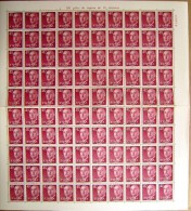 ESPAÑA - EDIFIL Nº 1148 - 40 CTS SERIE DE FRANCO - PLIEGO DE 100 SELLOS NUEVOS (**) - 1931-Hoy: 2ª República - ... Juan Carlos I