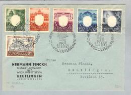 DR Generalgouvernement Sammlerbrief Mi#105-9+116 - Deutschland