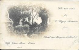 Pas courante - Villa Anna Maria Menton 1902 (infime coupure sur bordure gauche)