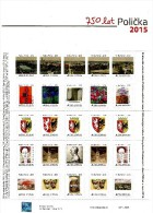 Czech Republic - 2015 - 750th Anniversary Of Policka Town - Mint Personalized Stamp Sheet With Hologram - Ongebruikt