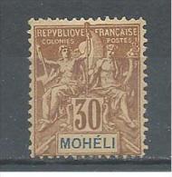 ! - Ex-colonies Françaises - Moheli - YT 8 * - Mohéli (1906-1912)