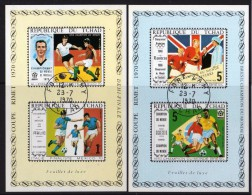 TCHAD 1970 - Mondiale De Foot, México 1970 - 2 Feuillets Luxe Obl. // Très Rares - Ciad (1960-...)