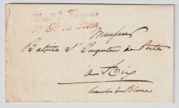 Frankreich, 1829, Selt. Franchise-Stp., Paris  , #3029 - Marcofilia (sobres)