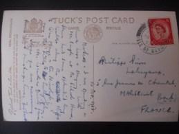 Ile De Man ,carte De 1953 Cachet Isle Of Man Pour Marseille - Isola Di Man