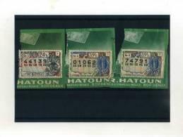 - FRAGMENTS DE BILLETS DE LA LOTERIE NATIONALE . 1962 - Lotterielose