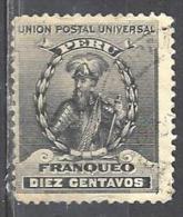PEROU 114° 10c Noir Pizarro (10% De La Cote + 0,15) - Peru