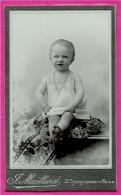 """PHOTO Photographie CDV """"F. MAILLARD"""" 69 St SAINT-SYMPHORIEN Sur Coise Rhône - Portrait D'enfant Bébé - Foto's"""