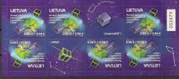 2014 Litauen Lietuva Mi. 1170 **MNH Booklet  Start Der Ersten Litauischen Satelliten - Space