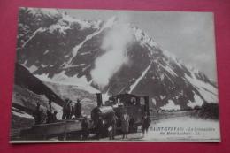 Cp  Saint Gervais La Cremaillere De Mont Lachait Animé - Stations With Trains