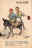 Jolis Petits Arabes Sur Leur âne Qui Vous Souhaitent Une Bonne Année (38.11) - Humour
