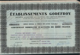 ACTIONS-ETABLISSEMENTS GODEFROY-1950 - G - I