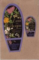 PARFUMS - LOT DE 2 ETIQUETTES - JAMES DUCELLIER , VVE L. DUPONT SUCCR - EAU DE COLOGNE AUX FLEURS - Labels