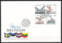 Litauen  - FDC  -  Mi.Nr.   501 - 504     - Gestempelt - Litauen