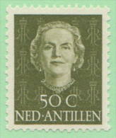 NAN SC# 225 MNH  1950 Queen Juliana, CV $14.00 - Curacao, Netherlands Antilles, Aruba