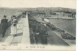 13-MARSEILLE-Une Vue De La Jetée En 1905-Militaire-Animé - Vieux Port, Saint Victor, Le Panier
