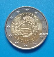 2 Euro Commemorative Slovaquie 2012 TYE Ten Years Euro PIECE NEUVE UNC - Slovakia