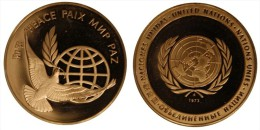 MEDAGLIA NAZIONI UNITE UNITED NATIONS 1972 PACE PEACE PAIX PAZ   Fondo Specchio   Med - Italia