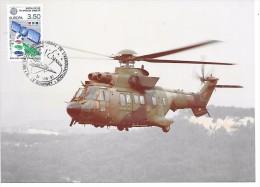 HELICOPTERE AS332 M1 SUPER LAMA  - Salon International De L´Aéronautique LE BOURGET - 14 Juin 1991 - Timbre Philatélique - Hélicoptères