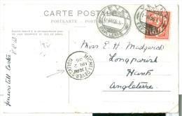 1906 UK, Micheldever Station Postmark To Swiss Ppc Vevey Postmarks. - Marcofilia