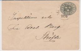 Sweden 1894 H&G # 8 Used Postal Stationery Local Used - Postal Stationery