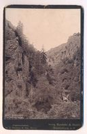 ALTES KABINETTFOTO CDV PHOTO BODEKESSEL UND TEUFELSBRÜCKE 1891 Photochromie Photoplatte Dr. E. Mertens, Berlin Harz - Stereoskope - Stereobetrachter
