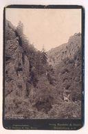 ALTES KABINETTFOTO CDV CAB PHOTO BODEKESSEL UND TEUFELSBRÜCKE 1891 Photochromie Photoplatte Dr. E. Mertens, Berlin Harz - Stereoskope - Stereobetrachter
