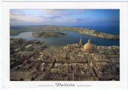 MALTA - AERIAL VIEW OF VALLETTA / THEMATIC STAMP-EUROPA - Malta