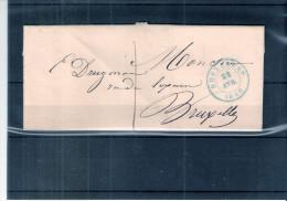 Lettre De Bruxelles Vers Bruxelles - 22-Avr-1849 (à Voir) - 1830-1849 (Belgique Indépendante)