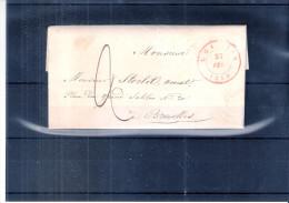 Lettre De Louvain Vers Bruxelles - 27-Fév-1849 (à Voir) - 1830-1849 (Belgique Indépendante)